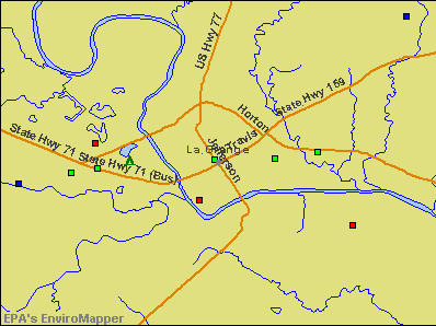 La Grange, Texas environmental map by EPA