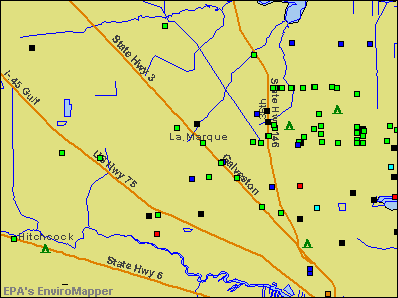 La Marque, Texas environmental map by EPA