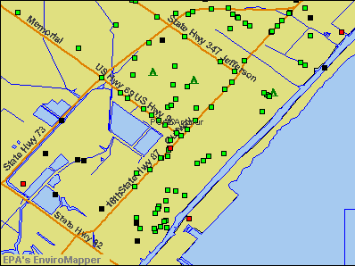 Port Arthur, Texas environmental map by EPA