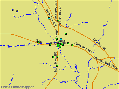 Snyder, Texas environmental map by EPA
