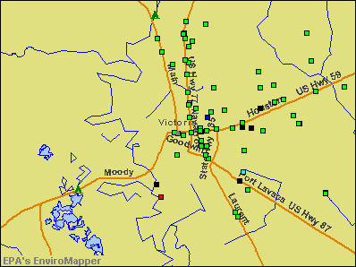 Victoria, Texas environmental map by EPA