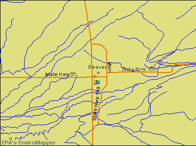 Beaver, Utah environmental map by EPA