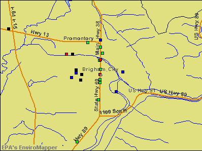 Brigham City, Utah environmental map by EPA