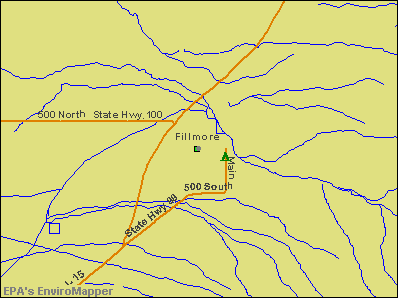 Fillmore, Utah environmental map by EPA