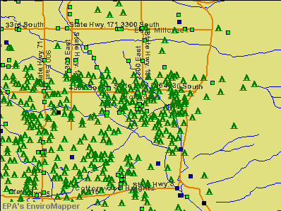 Holladay, Utah environmental map by EPA
