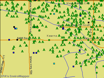 Kearns, Utah environmental map by EPA