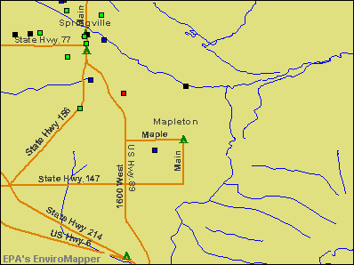Mapleton, Utah environmental map by EPA