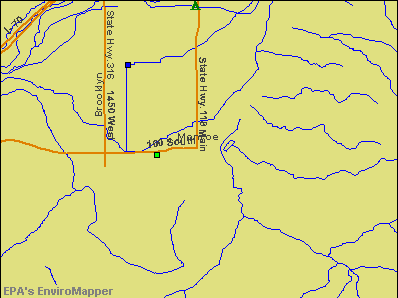 Monroe, Utah environmental map by EPA