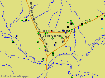 St. George, Utah environmental map by EPA