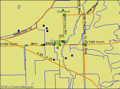 Tremonton, Utah environmental map by EPA