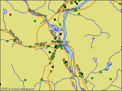 Brattleboro, Vermont environmental map by EPA