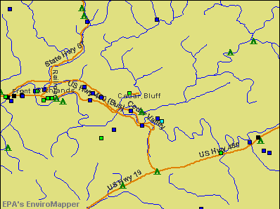 Cedar Bluff, Virginia environmental map by EPA