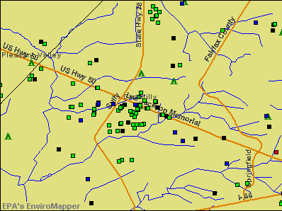 Chantilly, Virginia environmental map by EPA