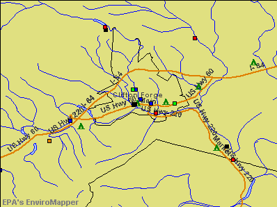 Clifton Forge, Virginia environmental map by EPA