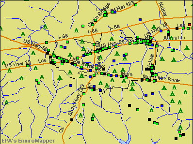 Fairfax, Virginia environmental map by EPA