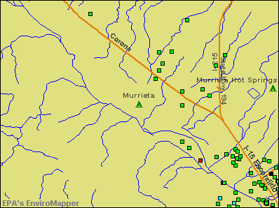 Murrieta, California environmental map by EPA