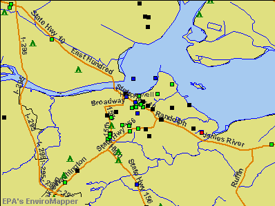 Hopewell, Virginia environmental map by EPA