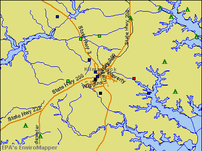 Kilmarnock, Virginia environmental map by EPA
