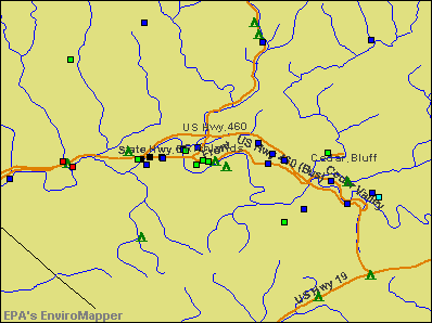 Richlands, Virginia environmental map by EPA