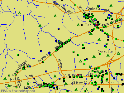 Vienna, Virginia environmental map by EPA
