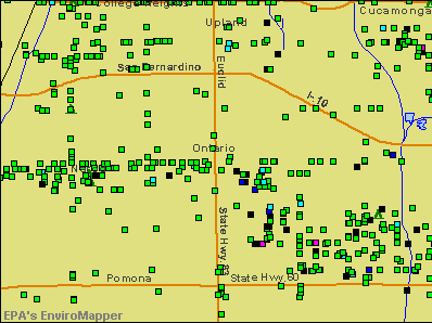 Ontario, California environmental map by EPA