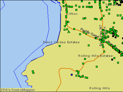 Palos Verdes Estates, California environmental map by EPA