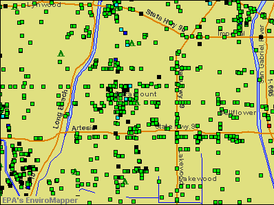 Paramount, California environmental map by EPA