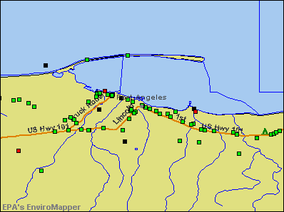 Port Angeles, Washington environmental map by EPA