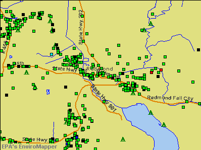 Redmond, Washington environmental map by EPA