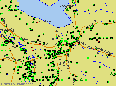 Renton, Washington environmental map by EPA