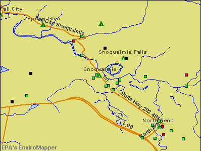 Snoqualmie, Washington environmental map by EPA