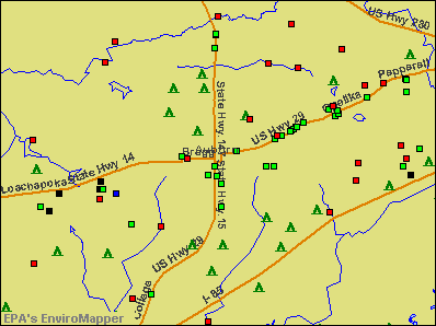 Auburn, Alabama environmental map by EPA