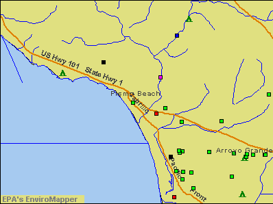 Pismo Beach, California environmental map by EPA