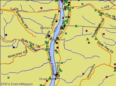 Benwood, West Virginia environmental map by EPA