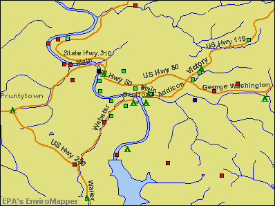 Grafton, West Virginia environmental map by EPA