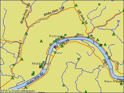 Mason, West Virginia environmental map by EPA