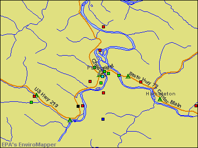 Parsons, West Virginia environmental map by EPA
