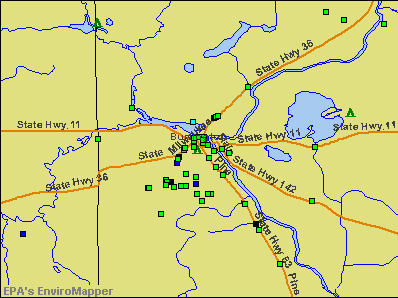 Burlington, Wisconsin environmental map by EPA
