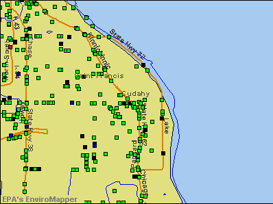 Cudahy, Wisconsin environmental map by EPA