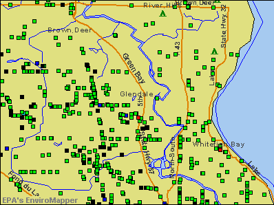 Glendale, Wisconsin environmental map by EPA