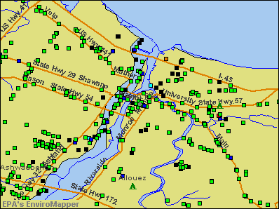 Green Bay, Wisconsin environmental map by EPA