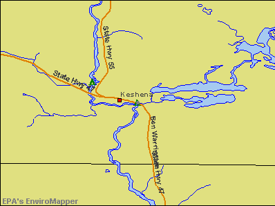 Keshena, Wisconsin environmental map by EPA