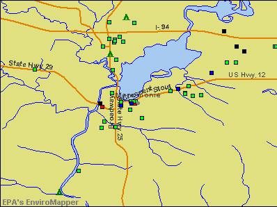 Menomonie, Wisconsin environmental map by EPA