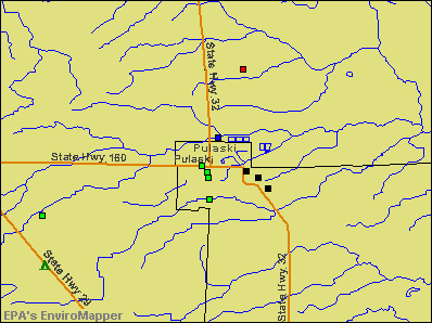 Pulaski, Wisconsin environmental map by EPA