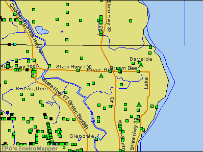 River Hills, Wisconsin environmental map by EPA