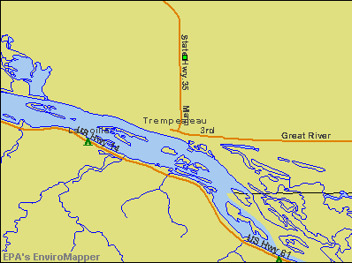 Trempealeau, Wisconsin environmental map by EPA
