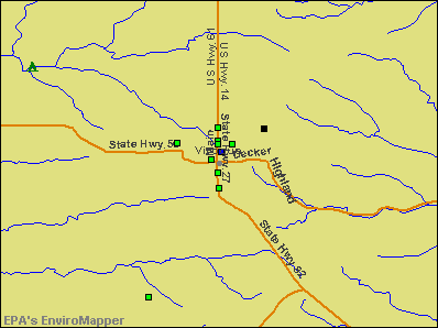 Viroqua, Wisconsin environmental map by EPA