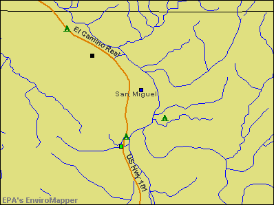San Miguel, California environmental map by EPA