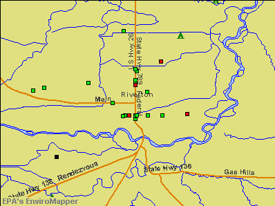 Riverton, Wyoming environmental map by EPA