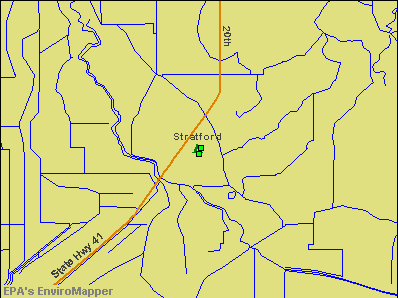 Stratford, California environmental map by EPA
